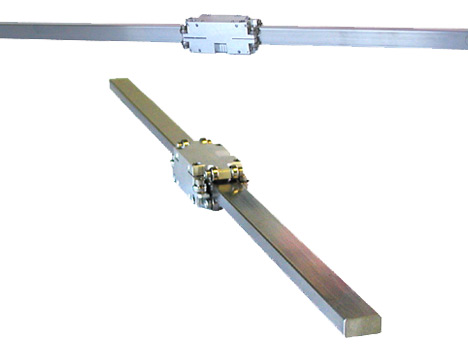 UHV linear guides